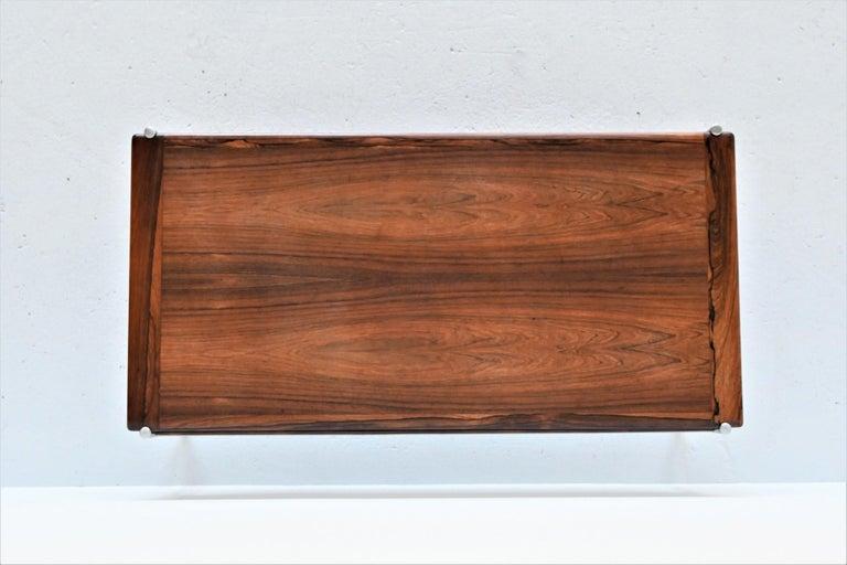 Sven Ivar Dysthe Model 1001 Rosewood Coffee Table Dokka Mobler, Norway, 1959 For Sale 5
