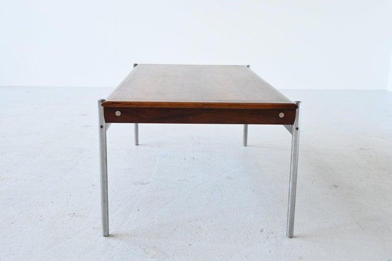 Norwegian Sven Ivar Dysthe Model 1001 Rosewood Coffee Table Dokka Mobler, Norway, 1959 For Sale