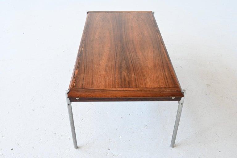Sven Ivar Dysthe Model 1001 Rosewood Coffee Table Dokka Mobler, Norway, 1959 In Good Condition For Sale In Etten-Leur, NL