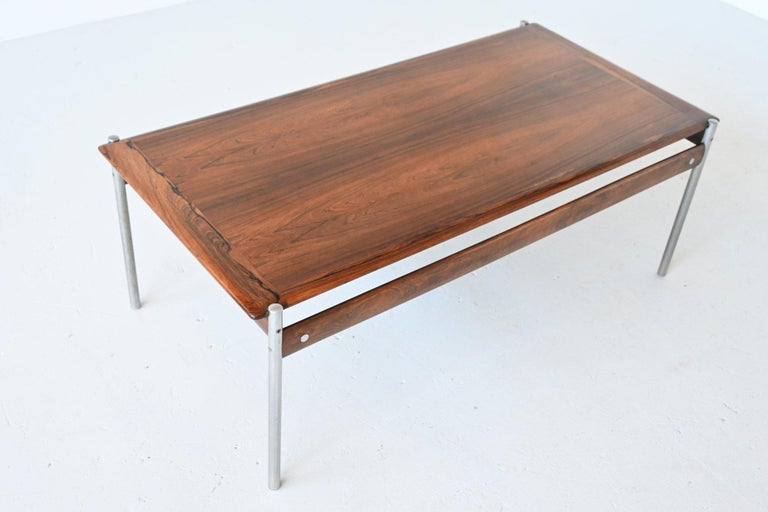 Mid-20th Century Sven Ivar Dysthe Model 1001 Rosewood Coffee Table Dokka Mobler, Norway, 1959 For Sale