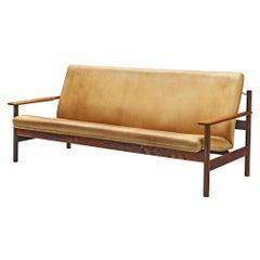 Sven Ivar Dysthe Sofa Model 1001 in Original Leather