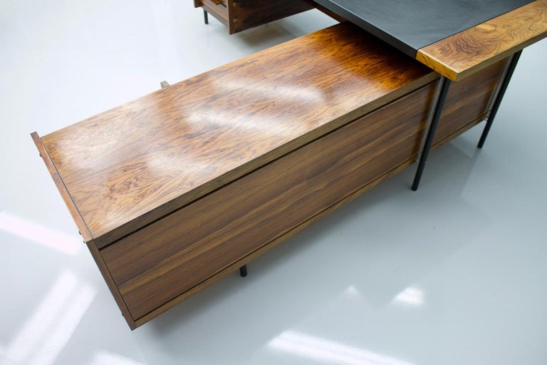 Mid-20th Century Sven Ivar Dysthe Writing Desk with Sideboard by Dokka Norway 1960s For Sale