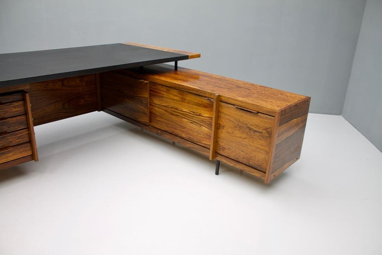 Sven Ivar Dysthe Writing Desk with Sideboard by Dokka Norway 1960s For Sale 1