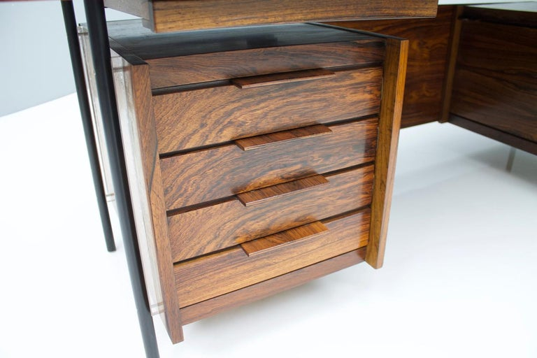 Sven Ivar Dysthe Writing Desk with Sideboard by Dokka Norway 1960s For Sale 2