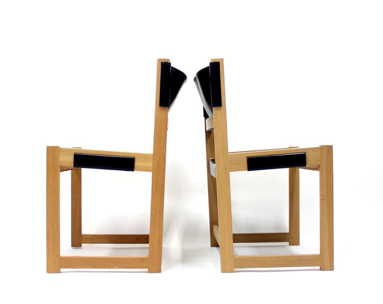 Leather Sven Kai Larsen Chairs for Nordiska Kompaniet, Set of 2 For Sale