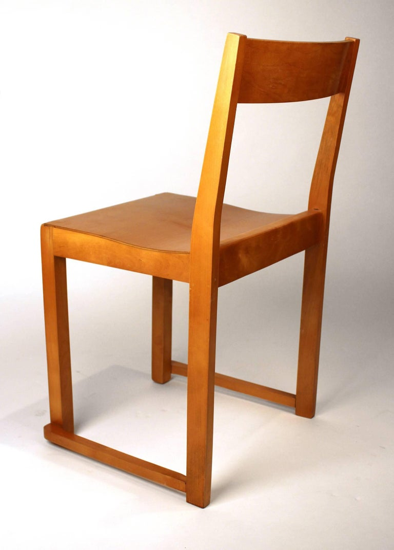 Scandinavian Modern Sven Markelius Helsingborg Theater Birch Dining Chairs For Sale
