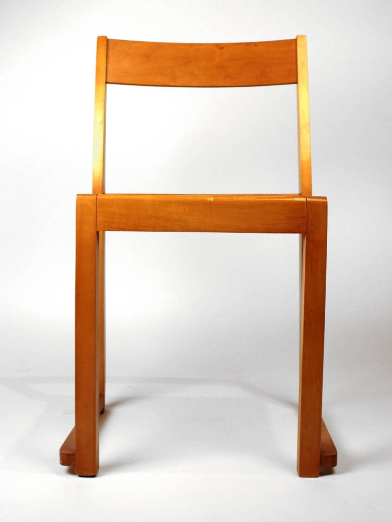 Sven Markelius Helsingborg Theater Birch Dining Chairs For Sale 1