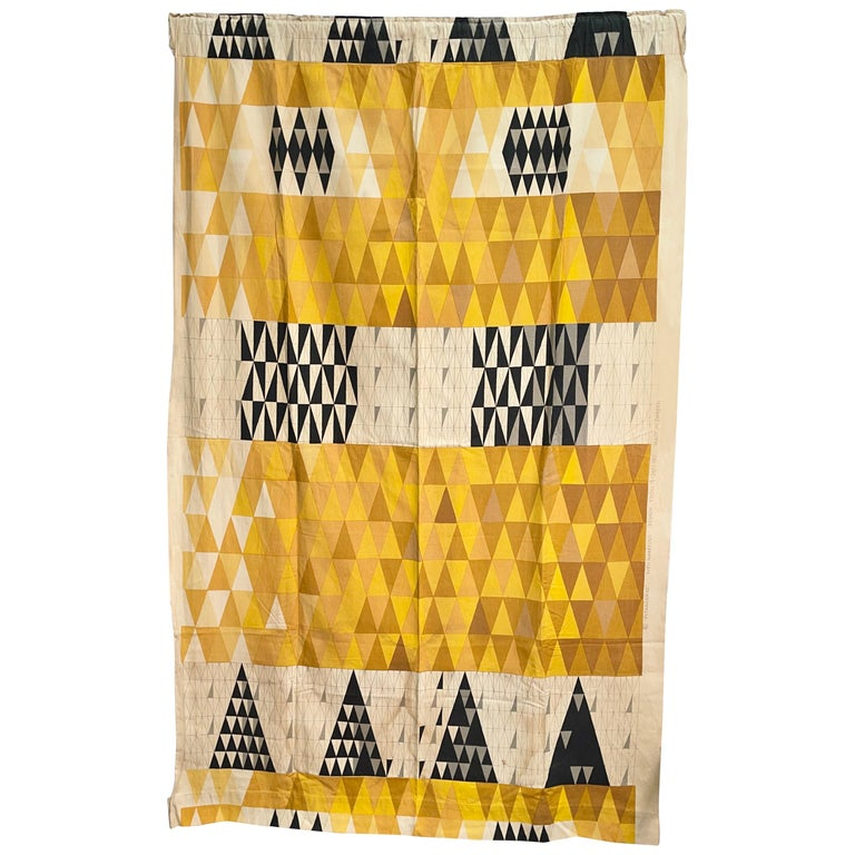 "Sven Markelius ""Pythagoras"" for Knoll Textiles Drapery Panel For Sale"
