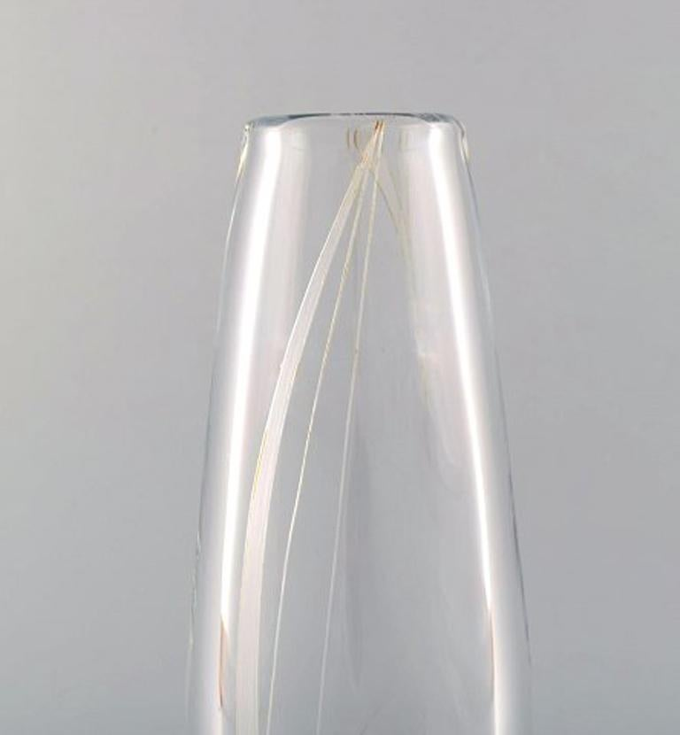 Swedish Sven Palmqvist for Orrefors, Vase in Clear Art Glass For Sale