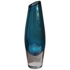 Sven Palmqvist, Organic Vase, Blown Sommerso Glass, Orrefors, Sweden, 1950s