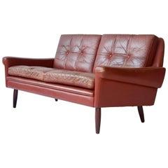 Sven Skipper Danish Leather Sofa