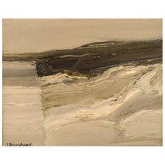 Sven Skoglund, Sweden, Modernist Landscape, Oil on Canvas, 1960s