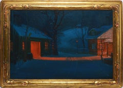 New England Winter Landscape by Svend Svendsen