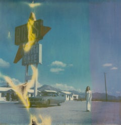 Burning Roy (Amboy) - Polaroid, 21st Century, Contemporary, Women, Landscape