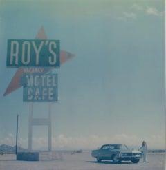 When I arrived (Amboy) - Polaroid, 21st Century, Contemporary, Women, Landscape