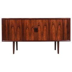 Svend A. Larsen Tambour-Door Rosewood Credenza for Faarup Møbelfabrik