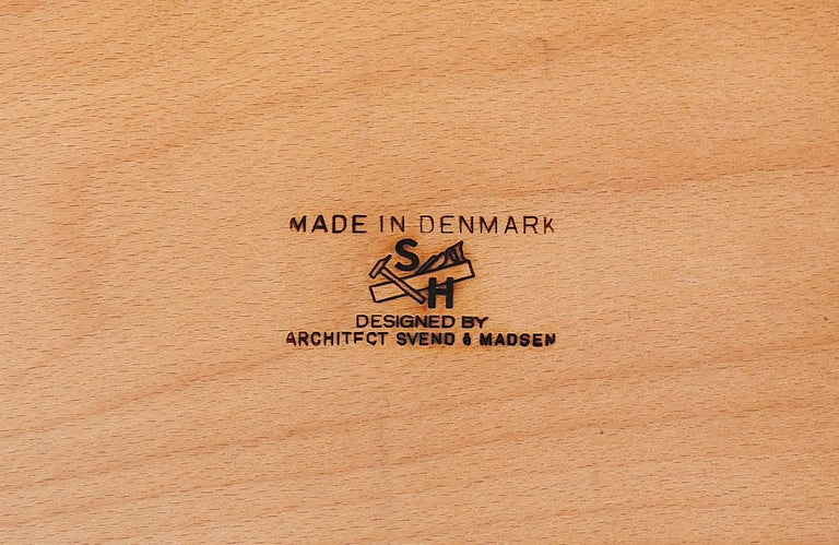 Svend A. Madsen Executive Teak Desk with Bookshelf for H.P. Hansen For Sale 7