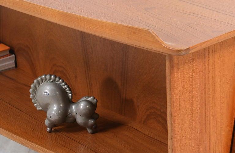 Svend A. Madsen Executive Teak Desk with Bookshelf for H.P. Hansen For Sale 2