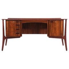 Svend A. Madsen Rosewood Desk with Bookshelf for H.P. Hansen