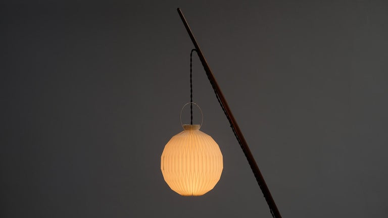 20th Century Svend Aage Holm Sorensen Fishing Pole Floor Lamp For Sale