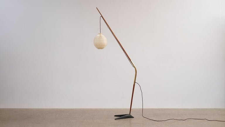 Svend Aage Holm Sorensen Fishing Pole Floor Lamp For Sale 2