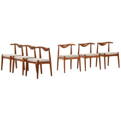 Svend Aage Madsen Dining Chairs Produced by K. Knudsen in Denmark