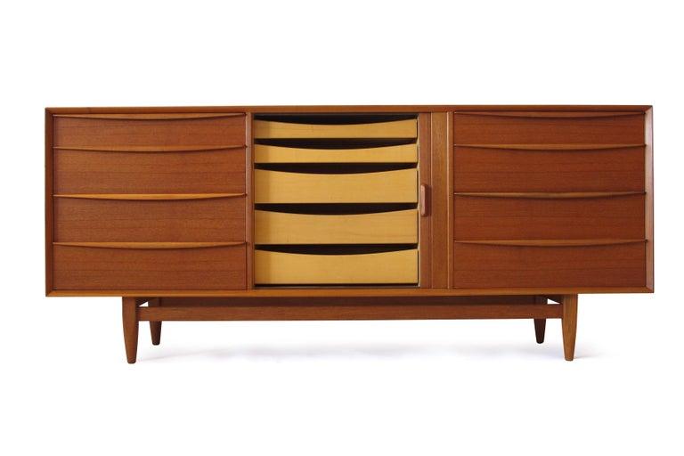 Danish Svend Åge Madsen Teak 13-Drawer Dresser Cabinet For Sale