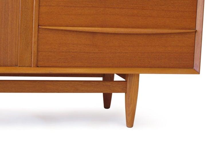 Svend Åge Madsen Teak 13-Drawer Dresser Cabinet For Sale 1