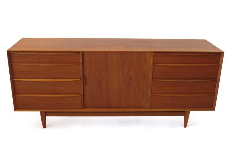 Svend Åge Madsen Teak 13-Drawer Dresser Cabinet For Sale 2
