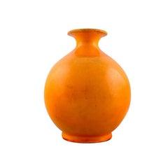 Svend Hammershøi for Denmark, HAK. Round Vase in Glazed Stoneware