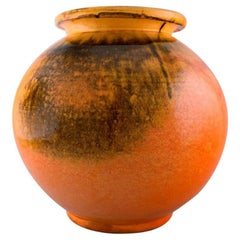 Svend Hammershøi for Kähler, Denmark, Large Round Vase in Glazed Stoneware