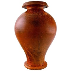 Svend Hammershøi for Kähler, Denmark, Large Vase in Glazed Stoneware