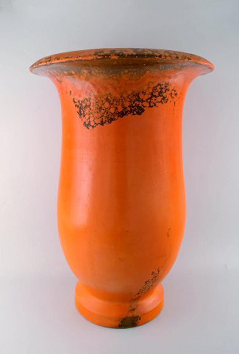Danish Svend Hammershøi for Kähler, HAK, Colossal Floor Vase in Glazed Stoneware For Sale