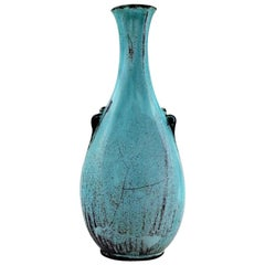Svend Hammershøi for Kähler, HAK, Vase in Glazed Stoneware