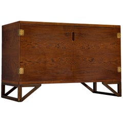 Svend Langkilde Brass and Rosewood Cabinet