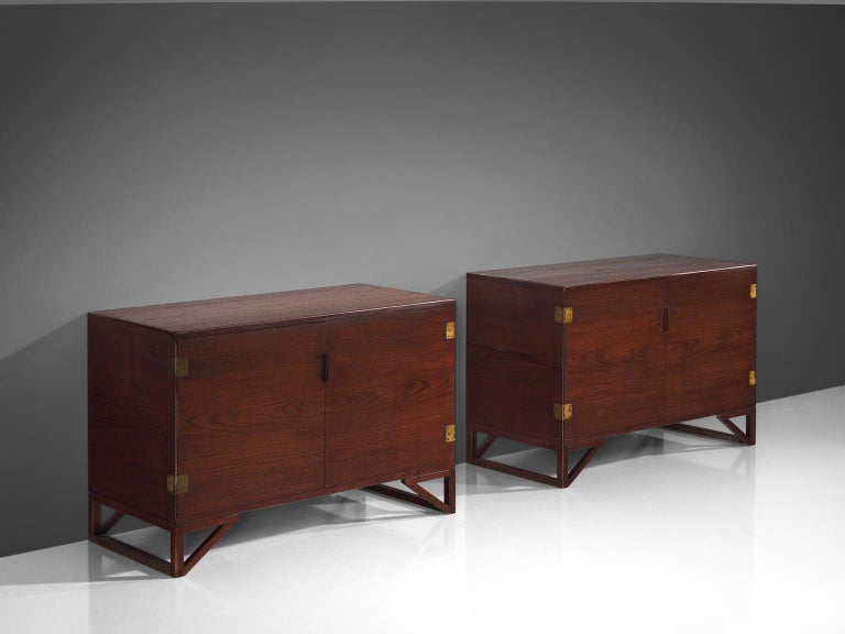 Scandinavian Modern Svend Langkilde for Illum Bolighus Pair of Cabinets in Teak For Sale