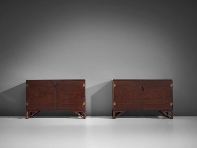 Danish Svend Langkilde for Illum Bolighus Pair of Cabinets in Teak For Sale