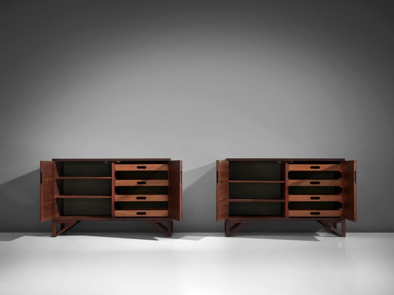 Svend Langkilde for Illum Bolighus Pair of Cabinets in Teak In Good Condition For Sale In Waalwijk, NL