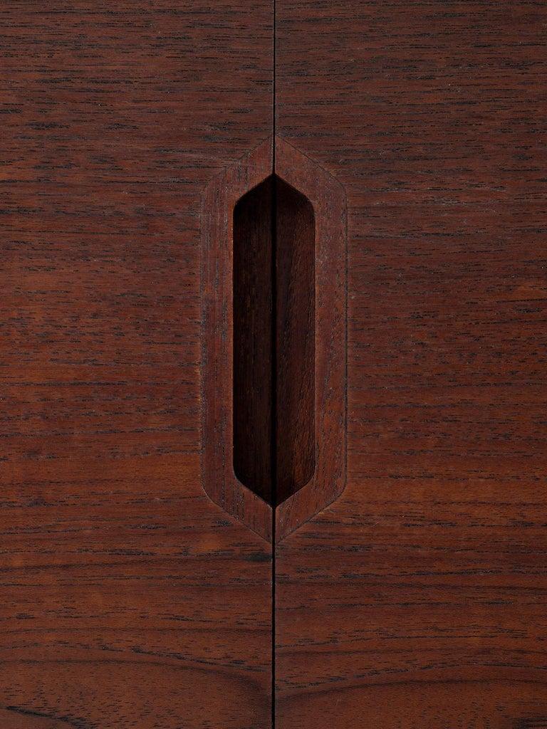 Brass Svend Langkilde for Illum Bolighus Pair of Cabinets in Teak For Sale