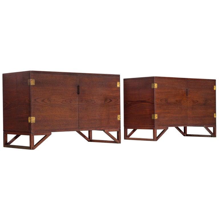 Svend Langkilde for Illum Bolighus Pair of Cabinets in Teak For Sale