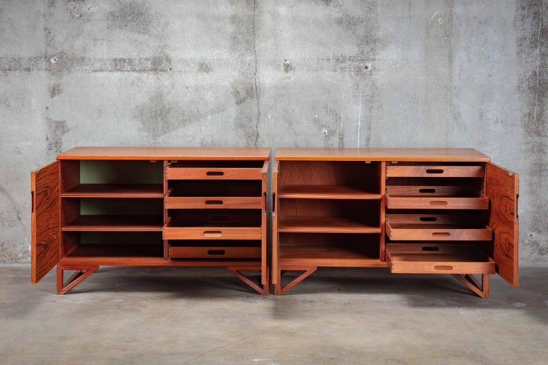 Svend Langkilde Pair of Teak Cabinets In Good Condition For Sale In Los Angeles, CA