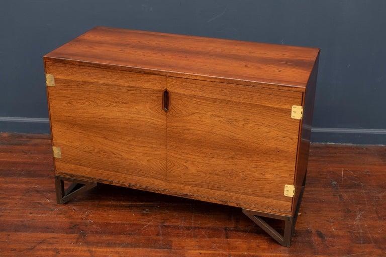 Scandinavian Modern Svend Langkilde Rosewood Cabinet by Langkilde Mobler For Sale