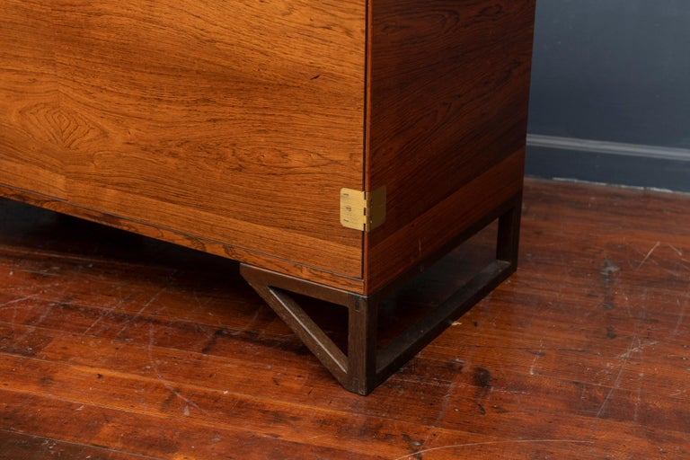 Danish Svend Langkilde Rosewood Cabinet by Langkilde Mobler For Sale