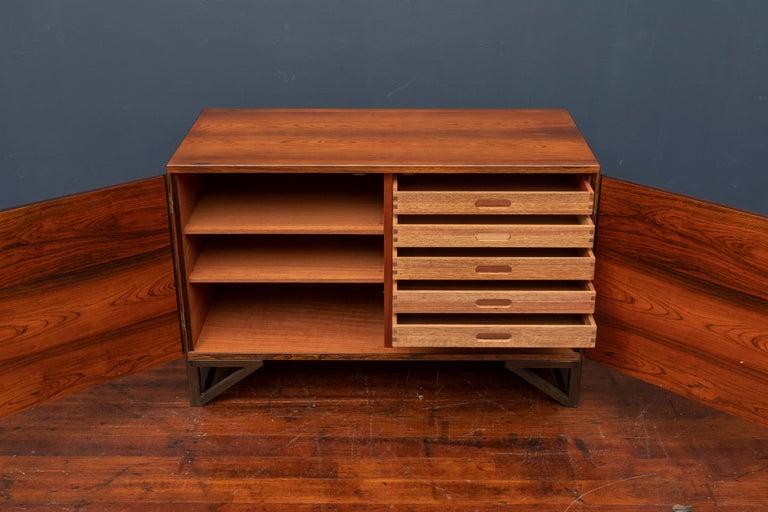 Svend Langkilde Rosewood Cabinet by Langkilde Mobler For Sale 1