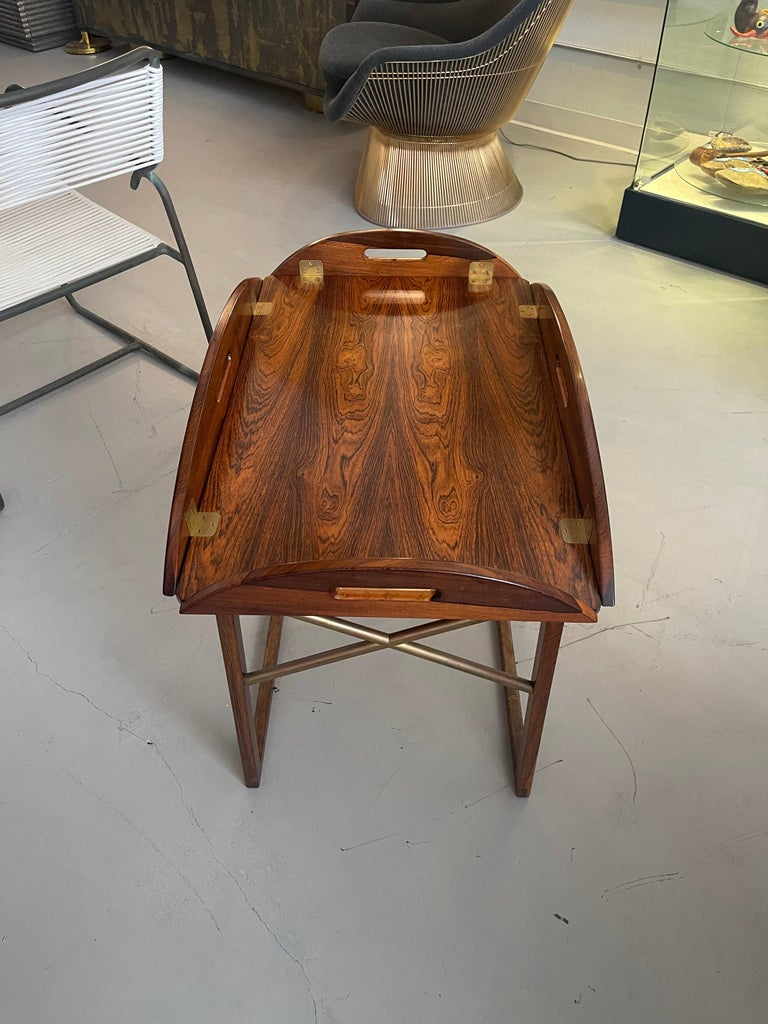 Svend Langkilde Rosewood Tray Table For Sale 3