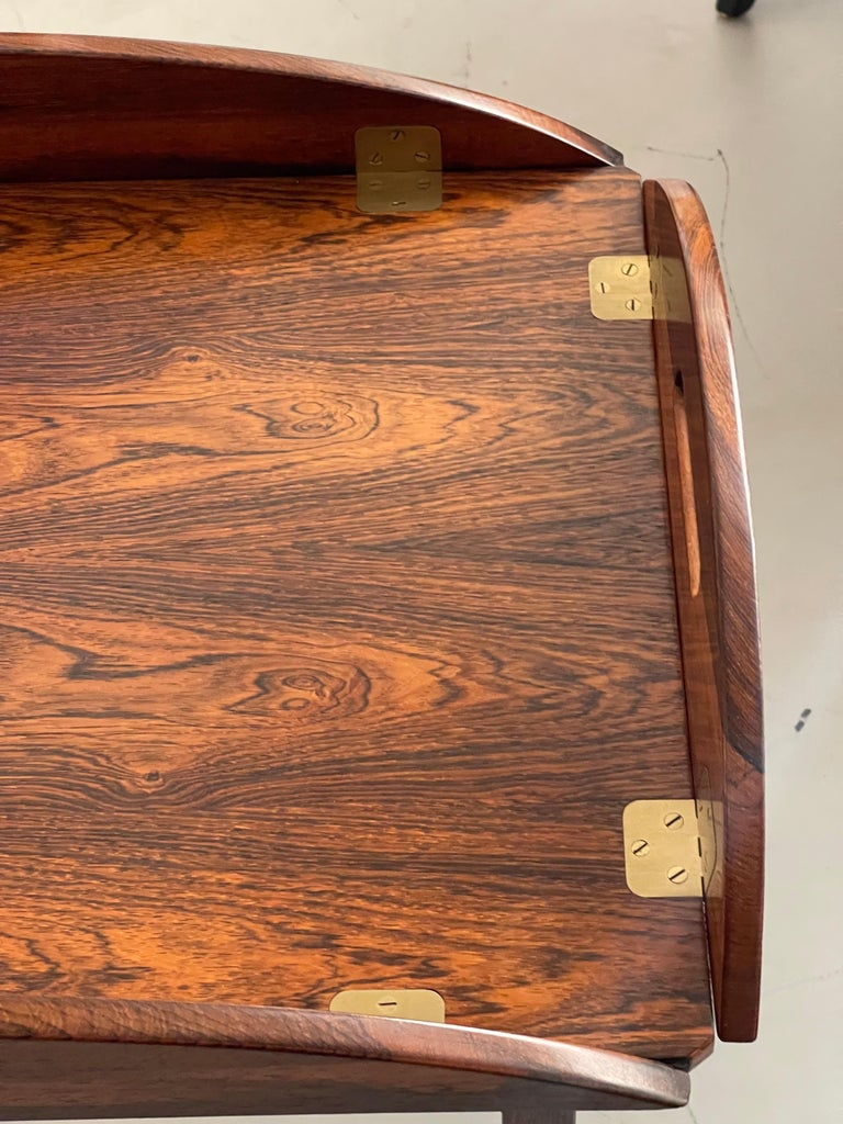 Svend Langkilde Rosewood Tray Table For Sale 5