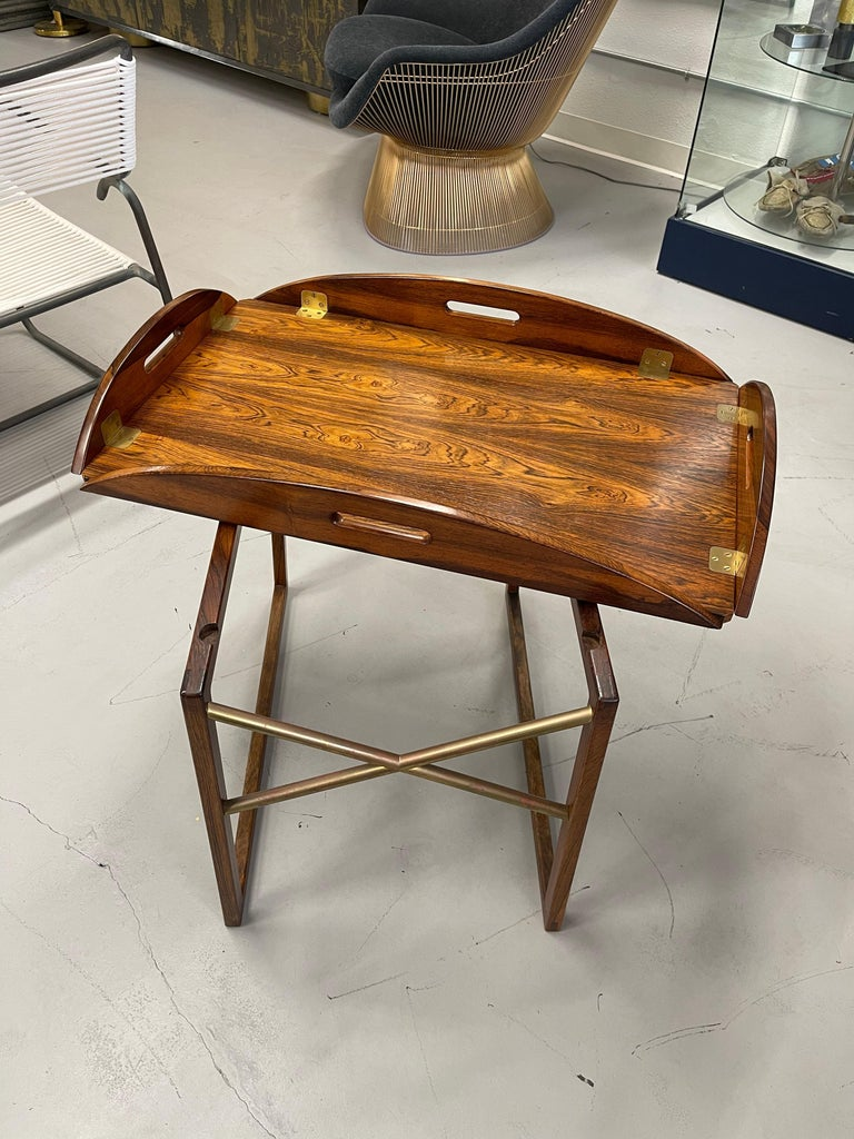 Svend Langkilde Rosewood Tray Table For Sale 6