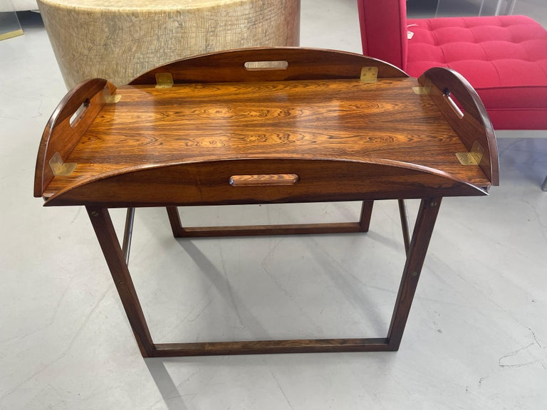 Mid-Century Modern Svend Langkilde Rosewood Tray Table For Sale