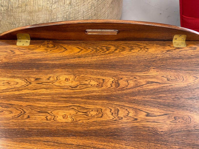 Danish Svend Langkilde Rosewood Tray Table For Sale