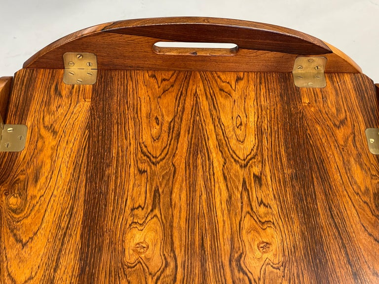 Machine-Made Svend Langkilde Rosewood Tray Table For Sale